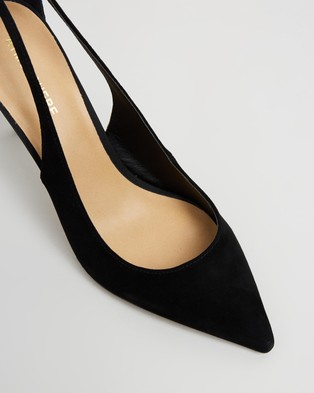 Atmos&Here Allegra Leather Heels - All Pumps (Black Suede)