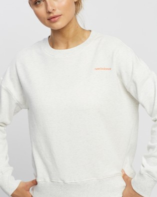 New Balance Fleece Crew - Crew Necks (Sea Salt)