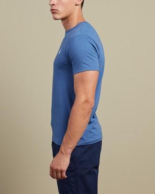 Polo Ralph Lauren - ICONIC EXCLUSIVE   Custom Slim Fit Short Sleeve T Shirt - T-Shirts & Singlets (Bastille Blue) ICONIC EXCLUSIVE - Custom Slim Fit Short Sleeve T-Shirt