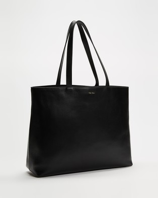 Fall The Label Squared Black Tote Bag - Bags (Black)