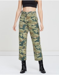 Free People - Camo Printed Remy Pants