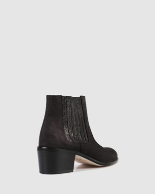 Beau Coops Jerry Basket Ankle Boots - Heels (BLACK-902)