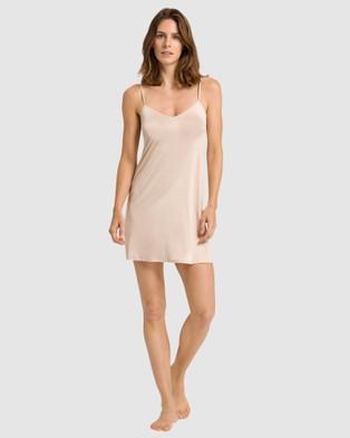 HANRO Satin Deluxe Body Dress - Sleepwear (Natural)