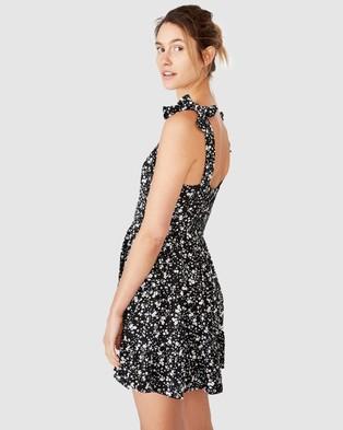 Cotton On Woven Stevie Tiered Mini Dress - Printed Dresses (Phoenix Ditsy Black)