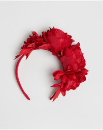 Max Alexander - Large Roses Flower Headband Fascinator