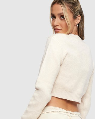 Lioness Grand Central Cardi Top - Jumpers & Cardigans (Ecru)