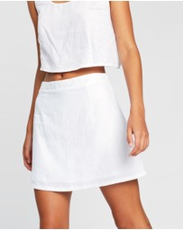 Dazie - Capri Linen Mini Skirt