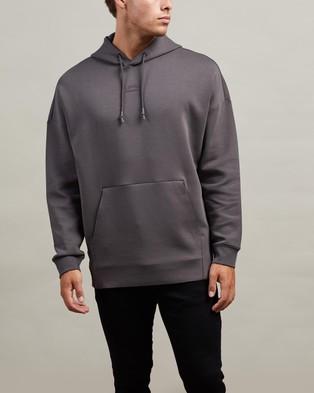 BOSS - Large Rear Logo Hoodie Hoodies (Grey)