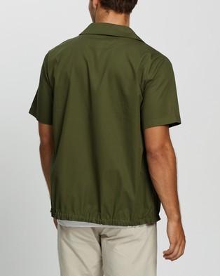 AERE Organic Cotton Drawcord Overshirt Casual shirts Khaki