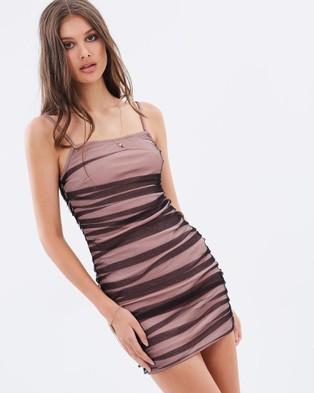 ebonie n ivory – Honesty Dress – Bodycon Dresses (Dusky Pink & Black)