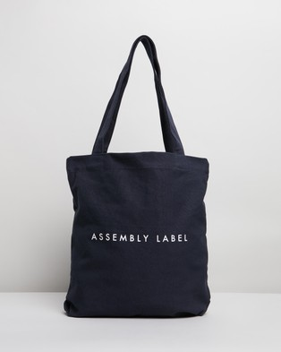 Assembly Label Logo Tote Bag - Bags (True Navy)