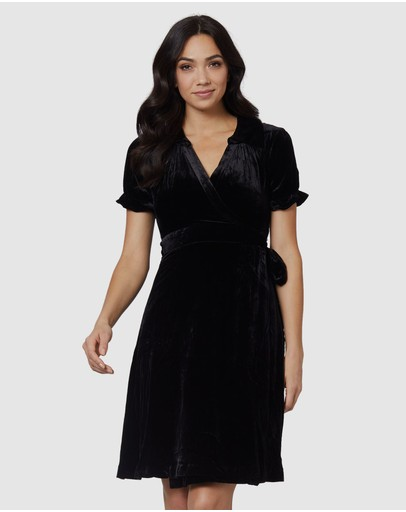 3be543c315dbe Black Wrap Dress | Black Wrap Dresses Online | Buy Black Wrap Dresses  Australia |- THE ICONIC
