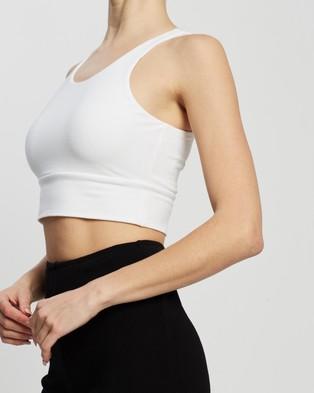 Dazie Cali Cropped Tank Top - T-Shirts & Singlets (White)