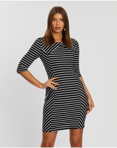Atmos&here Layla Ponte Dress Stripe