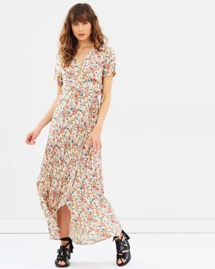 Auguste – Wild Rose Maxi Wrap Dress – Dresses (Natural)