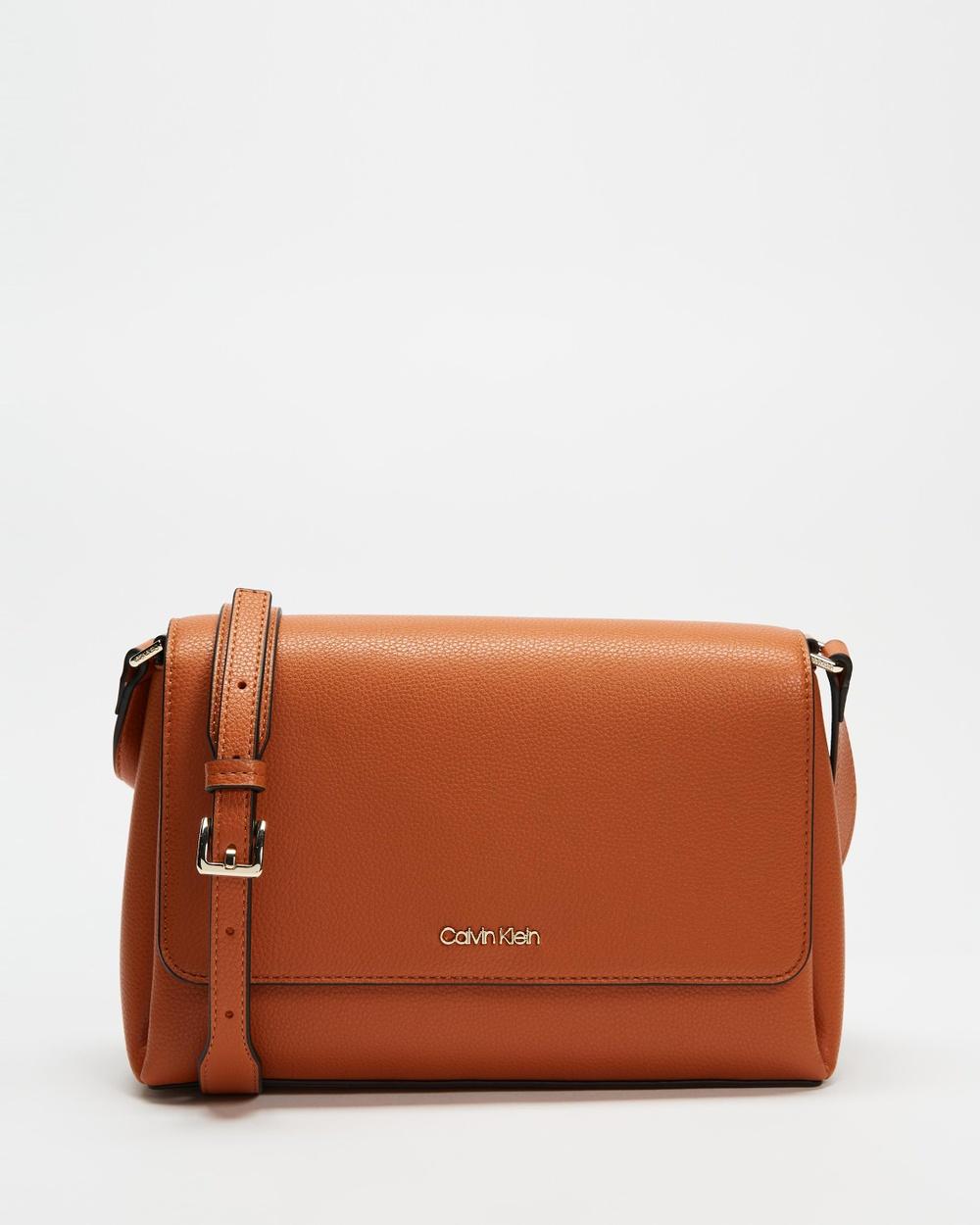 Calvin Klein Crossbody Bag Bags Cognac Cross-body bags Australia