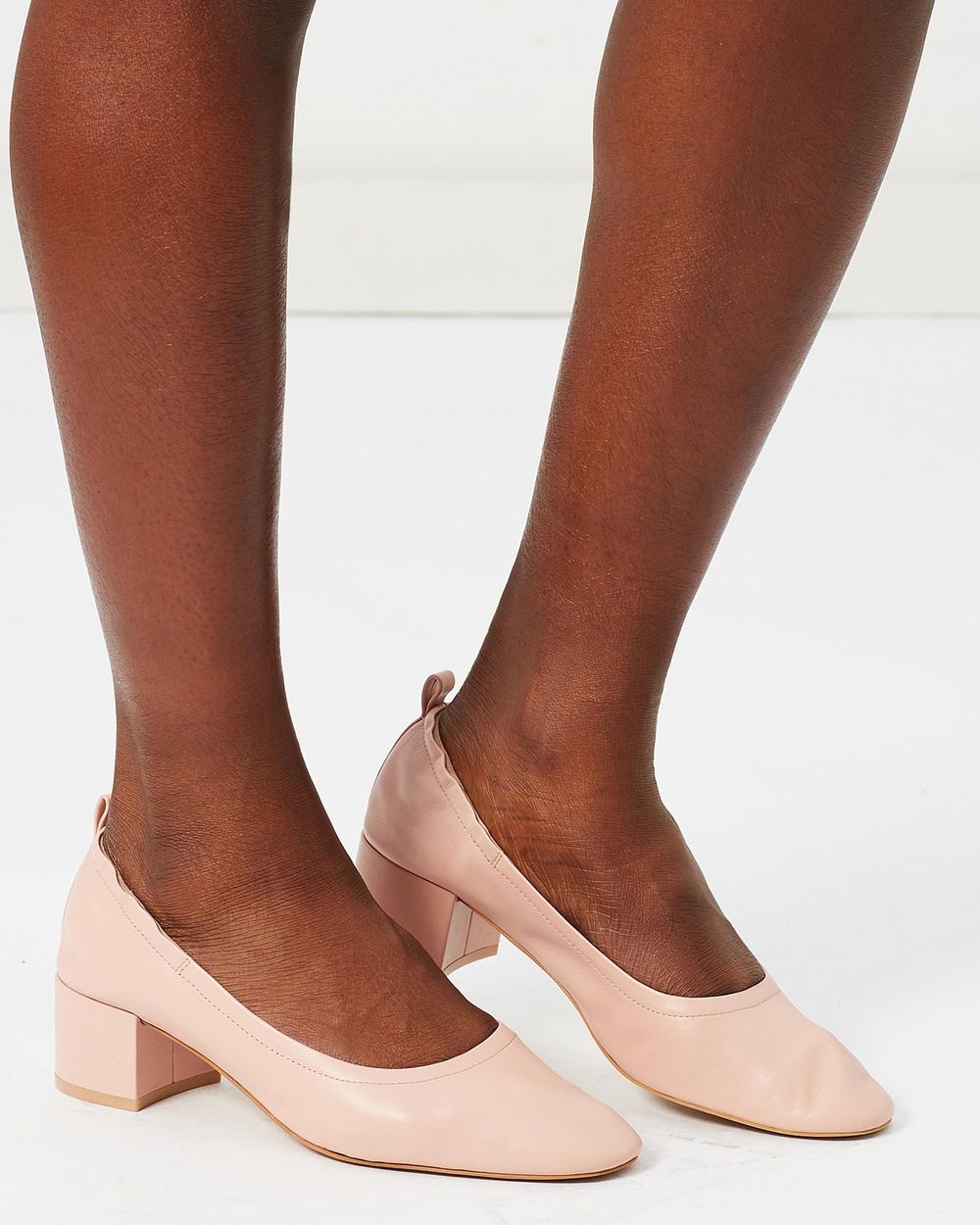 Shoes of Prey ICONIC EXCLUSIVE Vara Leather Pumps All Pumps Blush Leather ICONIC EXCLUSIVE Vara Leather Pumps