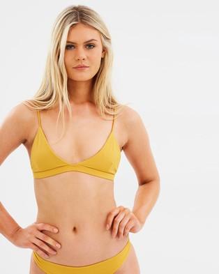 Midnight Swimwear – Gili Bralette Top Mustard