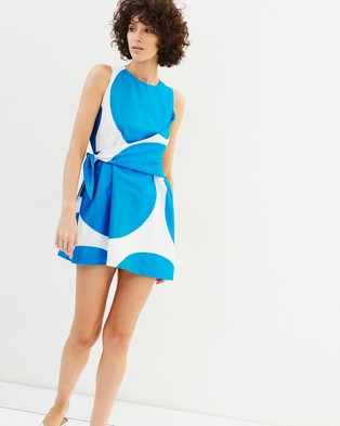 Gary Bigeni – Naki Dress – Printed Dresses Diva Blue Polka Dots