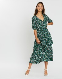 Missguided - Floral Tiered Midi Dress