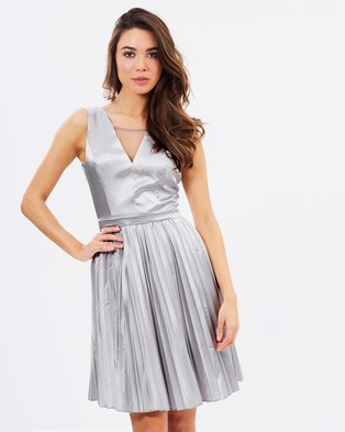 Chi Chi London – Katrina – Bridesmaid Dresses (Silver)
