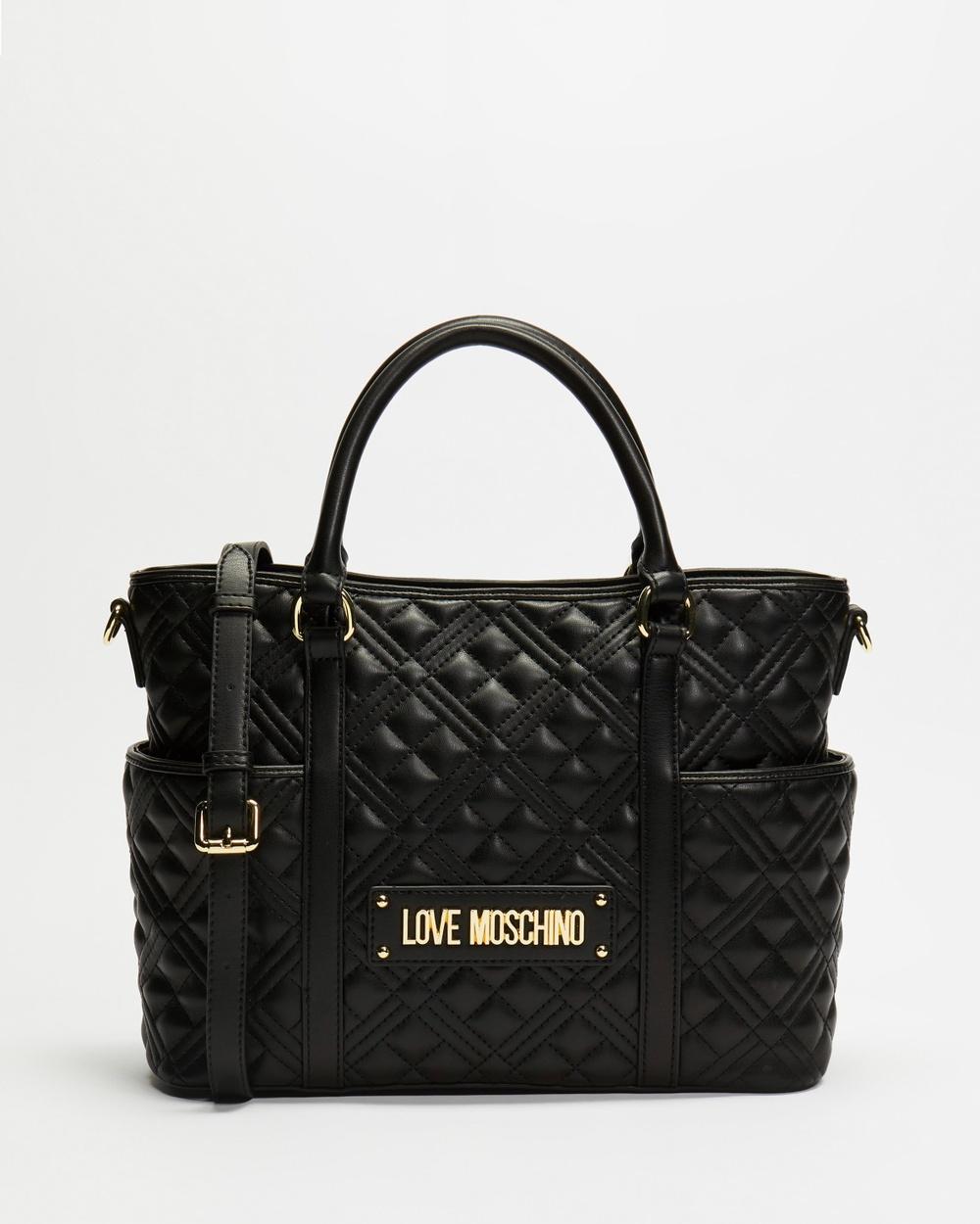 LOVE MOSCHINO Soft Quilted Napa Handbag Handbags Nero