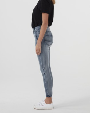 Jac & Mooki High Rise Skinny Ankle Jeans - Jeans (stone wash)