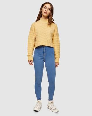 TOPSHOP Petite Petite Joni Skinny Jeans - High-Waisted (Bleach)