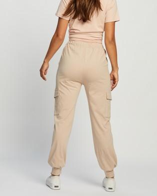 REVERSE Cargo Jogger Pants - Sweatpants (Beige)