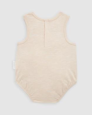 Purebaby Wolf Bodysuit   Babies - Bodysuits (Sand Feeder Stripe)