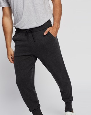 Mcintyre Riley Merino Lite knitted Trackpants - Pants (Charcoal)