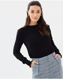 Oasis - Frill Shoulder And Cuff Jumper
