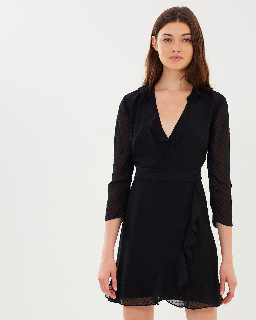 52661fc41a Mimi Dobby Frill Wrap Dress by Whistles Online
