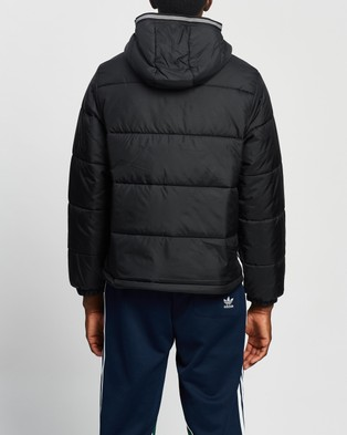 adidas Originals Padded Hooded Puffer Jacket - Coats & Jackets (Black)