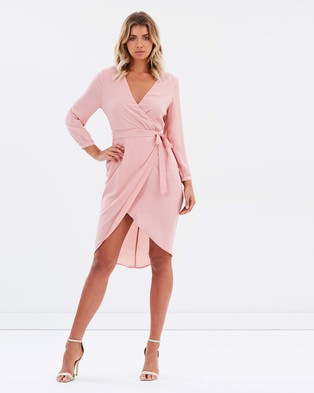 Atmos & Here – Darling Wrap Dress – Dresses (Dusty Pink)