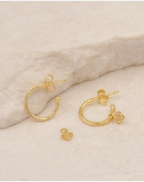 By Charlotte - Luminous Gold Hoop Earrings
