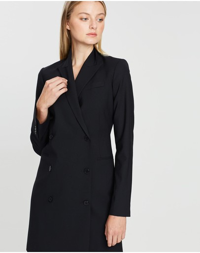 Theory Wool Blazer Dress Black
