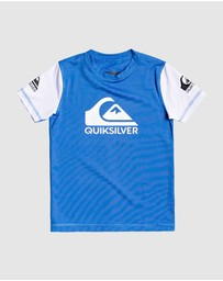 Quiksilver - Boys 2-7 Heats On Short Sleeve UPF 50 Rash Vest