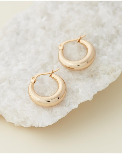 Reliquia Jewellery Baby Coralia Gold Hoop Earrings