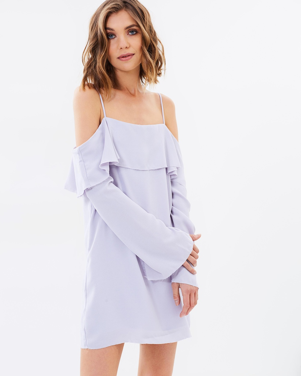 Lulu & Rose Clio Off Shoulder Dress Tops Pale Lilac Clio Off Shoulder Dress