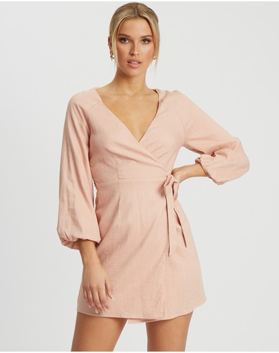 The Fated Miranda Mini Dress Dusty Pink