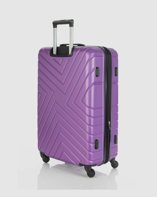 JETT BLACK Violet Maze Series Large Suitcase - Bags (Purple)