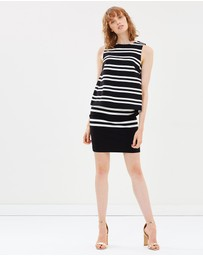 Marcs - Finish Line Stripe Ponte Skirt