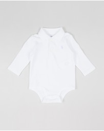 Polo Ralph Lauren - Long Sleeve Polo One-Piece Bodysuit - Babies
