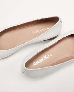 Atmos&Here Deborah Soft Leather Flats - Ballet Flats (Cream Leather)