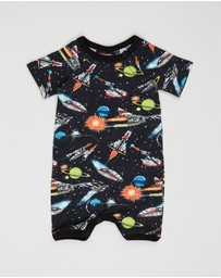 Rock Your Baby - Ground Control Short Sleeve Playsuit - Babies