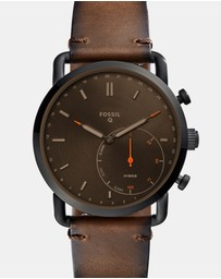 Hybrid Smartwatch Q Commuter Dark Brown