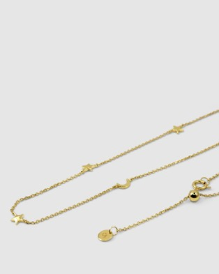 CA Jewellery Star Moon Necklace   Gold - Jewellery (Gold)