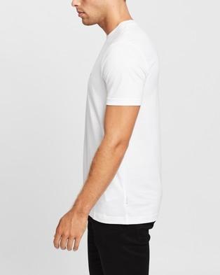 Calvin Klein Liquid Touch Tonal Logo T Shirt - T-Shirts & Singlets (White)