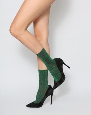 High Heel Jungle Glitterati Socks - Socks & Tights (Emerald)